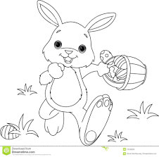 Bunny And Eggs Coloring Pages Easter Chicks Pictures Of Rabbits Page Empty Basket Large Size