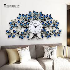 kristall baum stille acryl große dekorative wanduhr uhr modernes design wohnzimmer kid zimmer hause dekoration wand uhr aufkleber