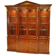 Henredon Breakfront China Cabinet by Kindel Neoclassic Mahogany Breakfront China Cabinet For Sale At
