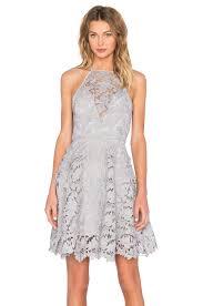 keepsake acoustic lace dress in pale grey revolve