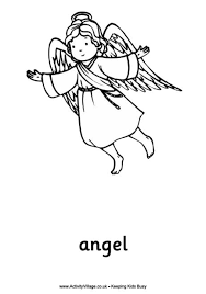 Angel Colouring Pages