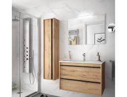 badezimmer badmöbel 80 cm nevada aus eiche ostippo holz mit porzellan waschtisch abmessungen 80 cm zubehör standard