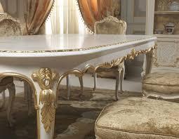 casa padrino luxus barock esszimmer set weiß gold 1 esstisch 6 esszimmerstühle esszimmer möbel im barockstil hotel restaurant schloss möbel