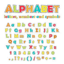 English Alphabet Uppercase And Lowercase Letters Stock Vector