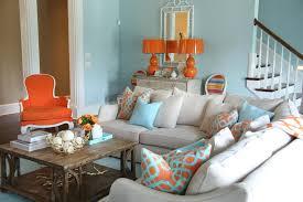 Grey And Turquoise Living Room by Orange And Aqua Blue Coastal Living Room Jenna Buck Gross Hgtv