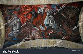 Jose Clemente Orozco Murals by Mural By Clemente Orozco Spanish Invasion Stock Photo 11274706