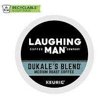 Laughing Man Hugh Jackman Single Serve Fair Trade Keurig Recyclable K Cup Arabica Coffee