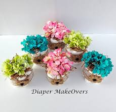 Baby Shower Table Centerpiece Decorations Rustic