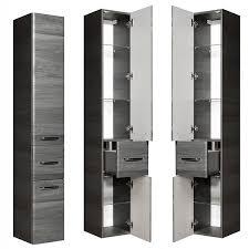 badezimmer hochschrank mit 2 türen und schubkasten alina 66 in graphit