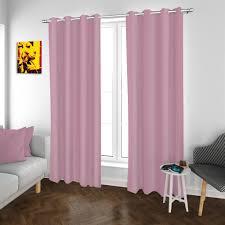 2er set ösenvorhang vorhänge rosa 140x260 cm kaufland de