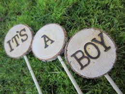 Its A Boy Cake Topper Baby Woodland Shower Rustic