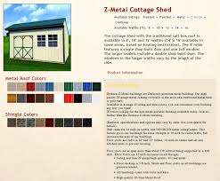 Floor Joist Spacing Shed by Z Metal Cottage Sheds