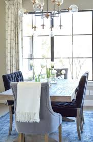 Navy Dining Room Chairs Chair Cover Blue Cushions And White