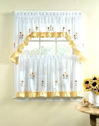 Living Room Kitchen Curtains Swag Valance And Medium Size Of Country Rugs For