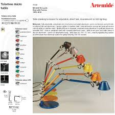 Tolomeo Desk Lamp Sizes by Tolomeo Micro Table Lamp Designs And Colors Modern Gallery Under