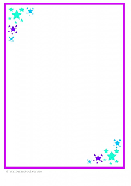 Star Border Paper A4 EYFS Early Mark Making Or Writing