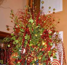 Decorated Christmas Trees With Mesh