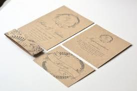 Woodland Kraft Brown Rustic Wedding Stationery And Invites