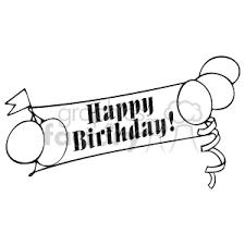 Royalty Free happy birthday banner vector clip art image WMF illustration