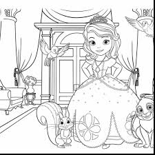 Stunning Sofia The First Coloring Pages Printable With Sophia And