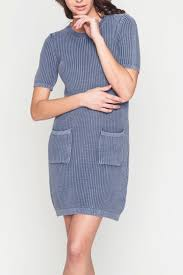 movint sweater dress with wash effect from soho by mo vint
