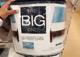 the big one gel memory foam mattress toppers only 27 98 earn