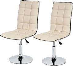 mendler 2x esszimmerstuhl hwc c41 stuhl küchenstuhl höhenverstellbar drehbar kunstleder creme