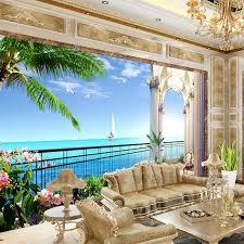 benutzerdefinierte 3d fototapete hd meer strand natürliche landschaft fotografie wohnzimmer meer view zimmer tv hintergrund wand malerei wand wandbild