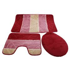 Red And Black Bathroom Rug Set by Cheap Bath And Toilet Mat Set Find Bath And Toilet Mat Set Deals