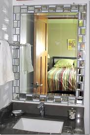 Bathroom Vanity With Stained Glass Mosaic Framed Mirror Small Ideas Trendy Updates From Bliss By Rotator Rod
