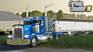 100 Big Blue Trucking FS19 TRUCKING DAY WITH BIG BLUE EARLY MORNING GRAIN TRUCKING