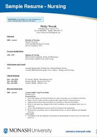 New Grad Nursing Sample Resume Format Graduate Nurse