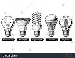 illustration light bulb evolution stock illustration
