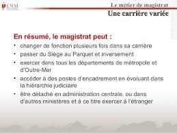 magistrats du si e et du parquet diaporama de presentation de l enm 2014 2