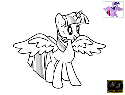 Coloring Pages For Kids My Little Pony Twilight Sparkle Printable