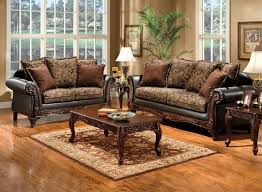 Traditional Dark Brown Living Room Set with Pillows SM7630