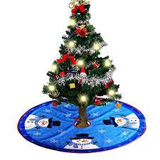 NKIPORU 315 Inch Christmas Tree Skirts Holiday Ornaments Plush Skirt Decoration For
