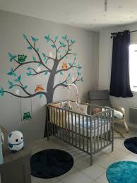 decorer chambre bébé soi meme idée déco chambre bébé garçon peinture arbre à faire soi même