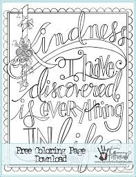 Kindness Is Everything FREE Coloring Page