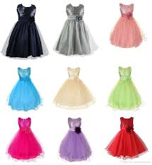 2016 new party dresses girls dresses girls polyester sequins