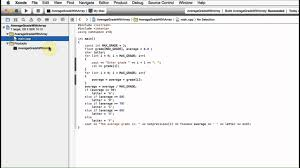 Average Grade Calculator With Arrays C Code Mac Xcode