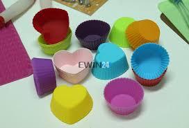 12 X Silikon Chocolate Cupcake Liner Baking Cup Mold FDA Amerikanischen Standard