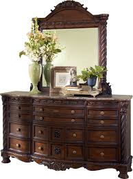 north shore dresser and mirror by ashley furniture