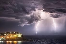 Lightning Strike Over Bondi Beach In Sydney