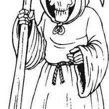 Gentleman Skeleton Death Coloring Page
