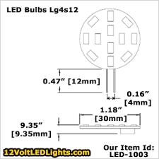 led 1003 lg4s12ww lg4s12cw 12 volt led bulb g4 led bi pin side