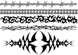 Black Tribal Armband Tattoos Design For Girls