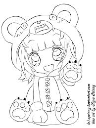 Chibi Pictures To Color Inside Cute Anime Coloring Pages