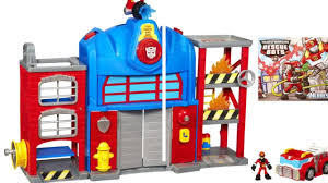 100 Rescue Bots Fire Truck Transformers Playskool Heroes Station Prime