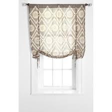 plum bow two tone eyelet draped shade curtain polyvore
